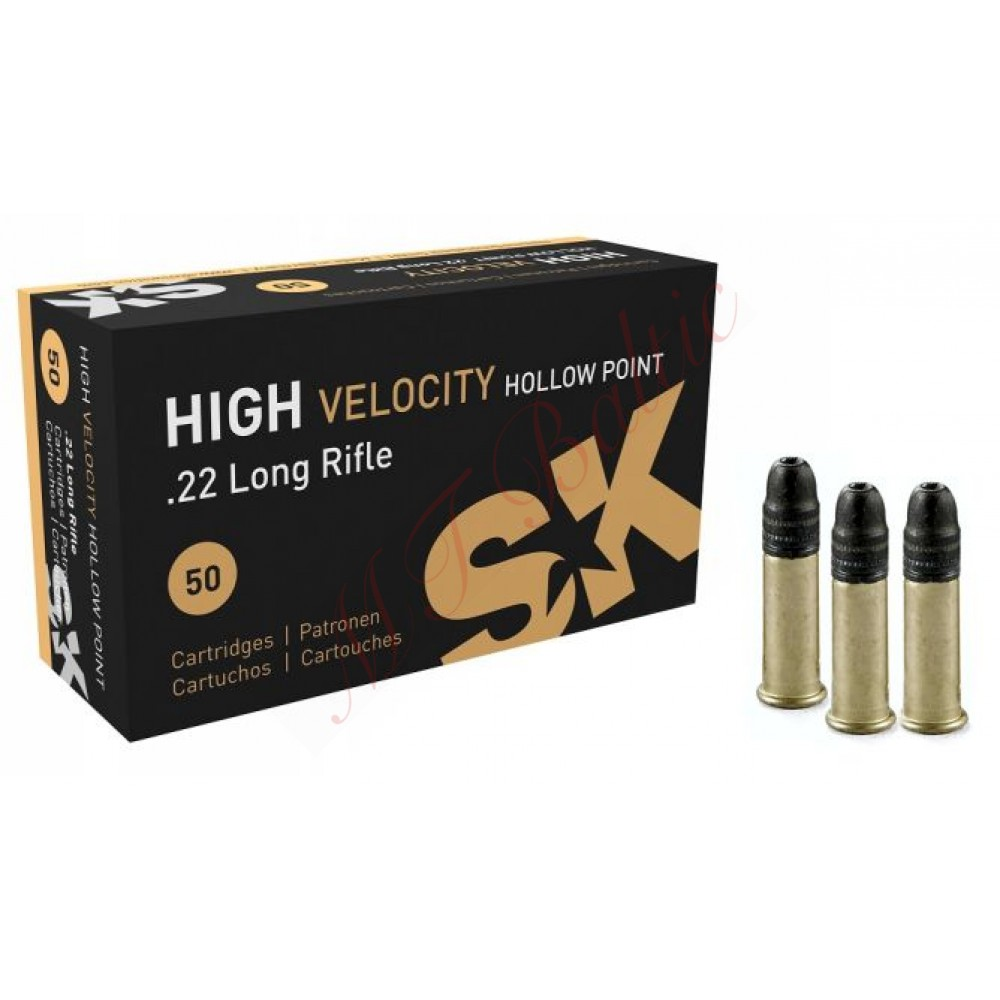 SK High Velocity Hollow Point .22 LR Šaudmuo